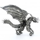 FLYING BRUTUS THE DRAGON XL 3D Solid Silver Statue Antique finish 30.5 oz