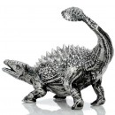 ANKYLOSAURUS series THE LOST WORLD 3D Solid Silver Statue Antique finish 8.7 oz