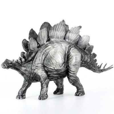 STEGOSAURUS series THE LOST WORLD 3D Solid Silver Statue Antique finish 8.7 oz