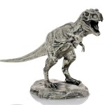 TYRANNOSAURUS REX T-REX series THE LOST WORLD 3D Solid Silver Statue Antique finish 8.7 oz