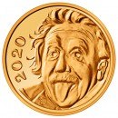 Switzerland ALBERT EINSTEIN Guinness World Record THE SMALLEST GOLD COIN IN THE WORLD 0.25 Franc 2020 Gold coin 2.96 mm
