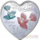 Cook Islands ETERNAL LOVE $1 Silver Coin 2013 Heart shape PROOF