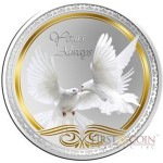 Tokelau YOURS ALWAYS DOVES $5 Silver Coin 2014 PROOF