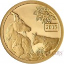 Tokelau MOTHER & KID Year of the Goat $5 Gold Coin 2015 PROOF