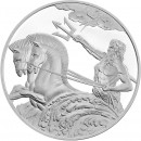 Tokelau POSEIDON series CREATURES OF MYTH & LEGEND $5 Silver Coin High relief 2017 Proof 1 oz