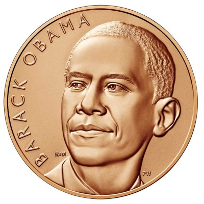 USA US MINT BARACK OBAMA series PRESIDENTS Coin Medal Bronze Small #1