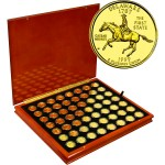 USA 56 STATES & TERRITORIES QUARTERS $14 Coin Set 25 cents x 56 coins GOLD PLATED 1999 - 2009
