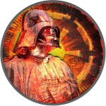 Niue Island BURNING series DARTH VADER STAR WARS $2 Silver Coin 2017 Antique finish 1 oz
