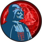 Niue Island TURBINE series DARTH VADER STAR WARS $2 Silver Coin 2017 Ruthenium plated 1 oz