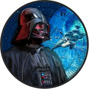 Niue Island X-WING STARFIGHTER series DARTH VADER STAR WARS $2 Silver Coin 2017 Ruthenium plated 1 oz