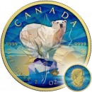 Canada CANADIAN BEAR Canadian Maple Leaf series THEMATIC DESIGN $5 Silver Coin 2017 Gold plated 1 oz