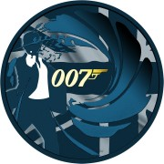 Tuvalu 007 JAMES BOND #2 Silver Coin $1 2020 Metallic finish 1 oz