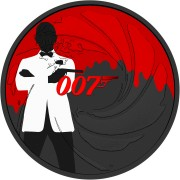 Tuvalu 007 JAMES BOND #4 Silver Coin $1 2020 Metallic finish 1 oz