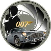 Tuvalu 007 JAMES BOND #7 Silver Coin $1 2020 Metallic finish 1 oz
