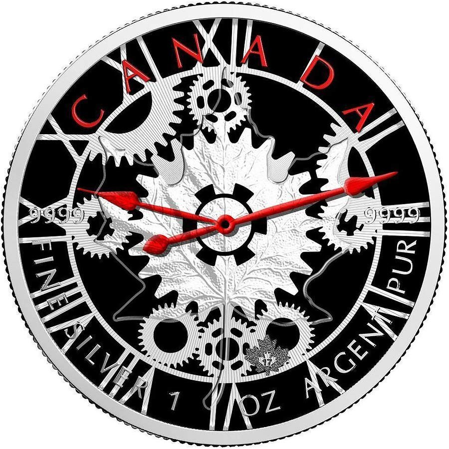 Canada Clock Time Canadian Maple Leaf Series Thematic