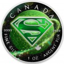 Canada SUPERMAN PLANET KRYPTON Canadian Maple Leaf $5 Silver Coin 2016 High relief of S-logo 1 oz