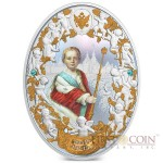 Niue island IVAN VI series RUSSIAN EMPERORS $5 Silver coin 2014 Oval shape High relief Gold plated Proof 2 oz
