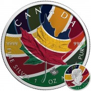 Canada CANADIAN RAINBOW Canadian Maple Leaf series THEMATIC DESIGN $5 Silver Coin 2017 High quality 1 oz