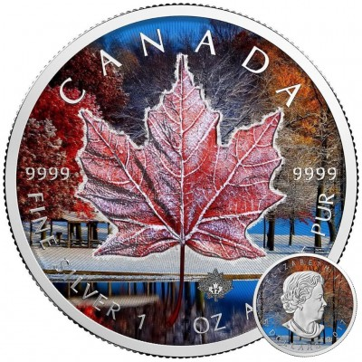 Canada CANADIAN WINTER NOVEMBER Canadian Maple Leaf series THEMATIC DESIGN $5 Silver Coin 2017 High quality 1 oz