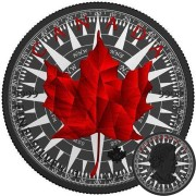 Canada MARITIME WATCHES Canadian Maple Leaf series THEMATIC DESIGN $5 Silver Coin 2017 Black Ruthenium plated 1 oz