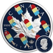 Canada CANADIAN ICE POP Canadian Maple Leaf series THEMATIC DESIGN $5 Silver Coin 2017 High quality 1 oz
