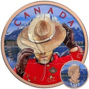 Canada ROYAL CANADIAN RANGER Canadian Maple Leaf series THEMATIC DESIGN $5 Silver Coin 2017 Rose Gold plated 1 oz