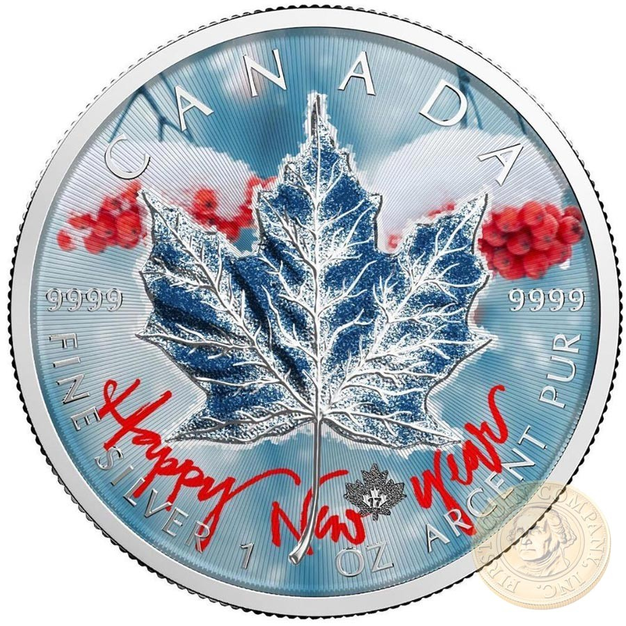 Canada HAPPY NEW YEAR Canadian Maple Leaf series THEMATIC DESIGN $5 Silver Coin 2017 High quality 1 oz