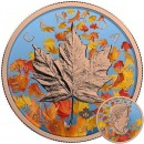 Canada LEAF FALL Canadian Maple Leaf series THEMATIC DESIGN $5 Silver Coin 2017 Rose Gold plated 1 oz