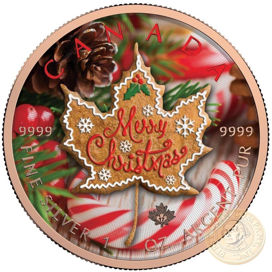 Canada Merry Christmas Canadian Maple Leaf Series Thematic