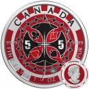 Canada POKER Canadian Maple Leaf series THEMATIC DESIGN $5 Silver Coin 2017 High quality 1 oz