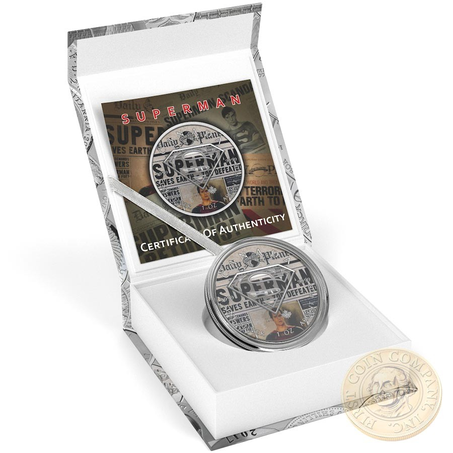Canada SUPERMAN ALIVE LEGEND Canadian Maple Leaf $5 Silver Coin 2016 High relief of S-logo 1 oz
