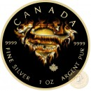Canada SUPERMAN EXPOSURE Canadian Maple Leaf $5 Silver Coin 2016 High relief of S-logo Yellow Gold plated 1 oz