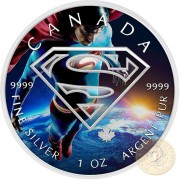 Canada SUPERMAN GOAL ACHIEVEMENT Canadian Maple Leaf $5 Silver Coin 2016 High relief of S-logo 1 oz