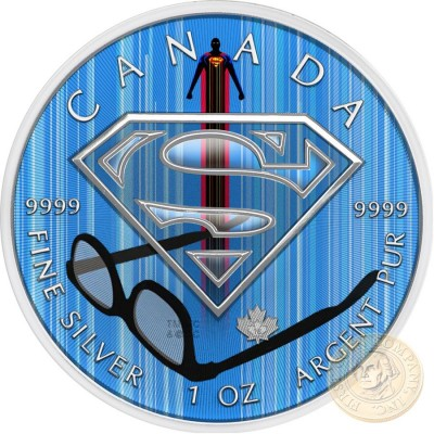 Canada SUPERMAN VISIBILITY Canadian Maple Leaf $5 Silver Coin 2016 High relief of S-logo 1 oz