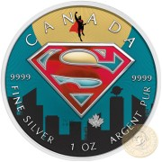 Canada SUPERMAN SUPERLATIVE Canadian Maple Leaf $5 Silver Coin 2016 High relief of S-logo 1 oz