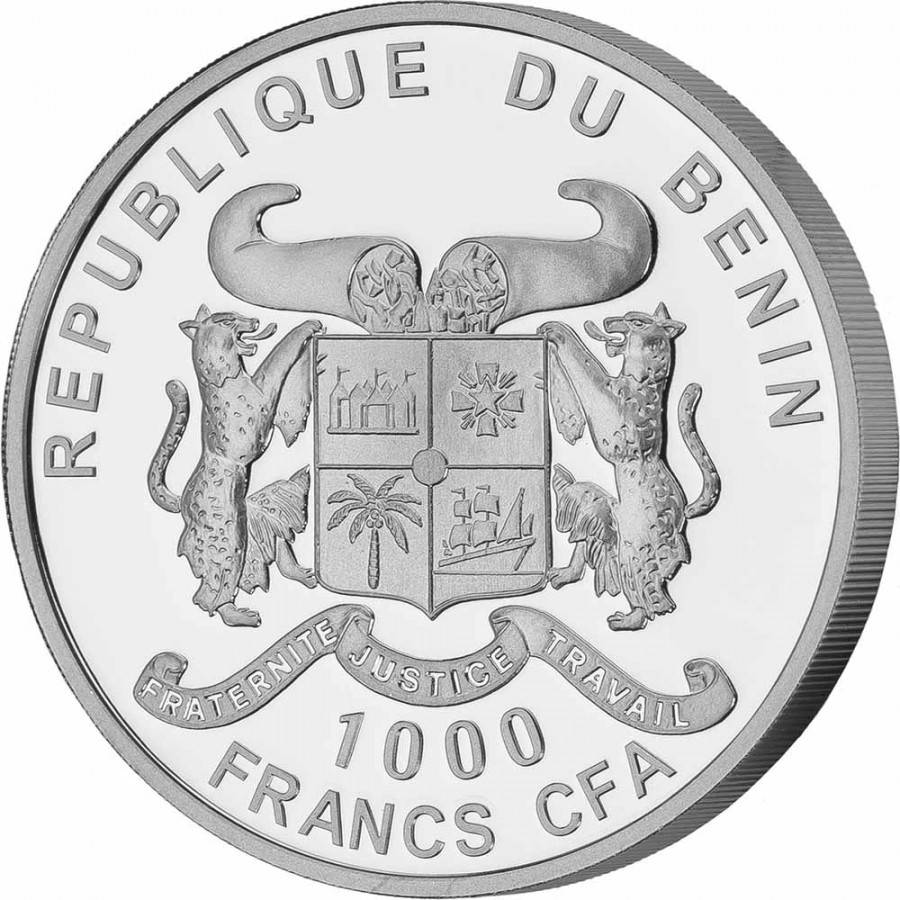 Republic of Benin AIR series SOURCE OF LIFE Silver Coin 1000 Francs 2020 Proof 1 oz