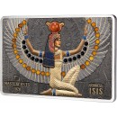 Solomon Islands GODDESS ISIS series Masterpieces Silver Coin $56 Gold inlay 2022 Proof 6.4 oz