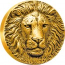 Ivory Coast LION BIG FIVE MAUQUOY HAUT RELIEF 10,000 Francs GOLD coin Ultra High Relief 2016 Matte Proof 5 oz