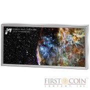 Samoa HUBBLE SPACE TELESCOPE Silver coin $5 Colour application 2015 Proof-like 1 oz