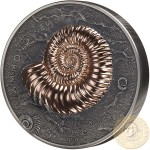 Mongolia AMMONITE Series EVOLUTION OF LIFE Silver Coin 20,000 Togrog Antique finish 2018 Rose gold plated Ultra High Relief 1 Kilo