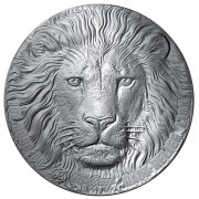 Ivory Coast LION series BIG FIVE MAUQUOY HAUT RELIEF 200 Francs Palladium coin 2020 Ultra High Relief Antique finish 1 oz