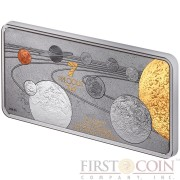 Solomon Islands Solar System PRECIOUS 7 IN 1 Silver coin $10 Gold Platinum Rhodium Palladium Ruthenium Rose Gold Plated 2014 Proof 1 oz