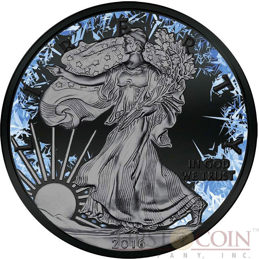 Usa Deep Frozen American Silver Eagle Walking Liberty
