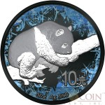 China FROZEN PANDA series DEEP FROZEN ¥ 10 Yuan Silver Coin 2016 Black Ruthenium and Platinum plated 30 grams