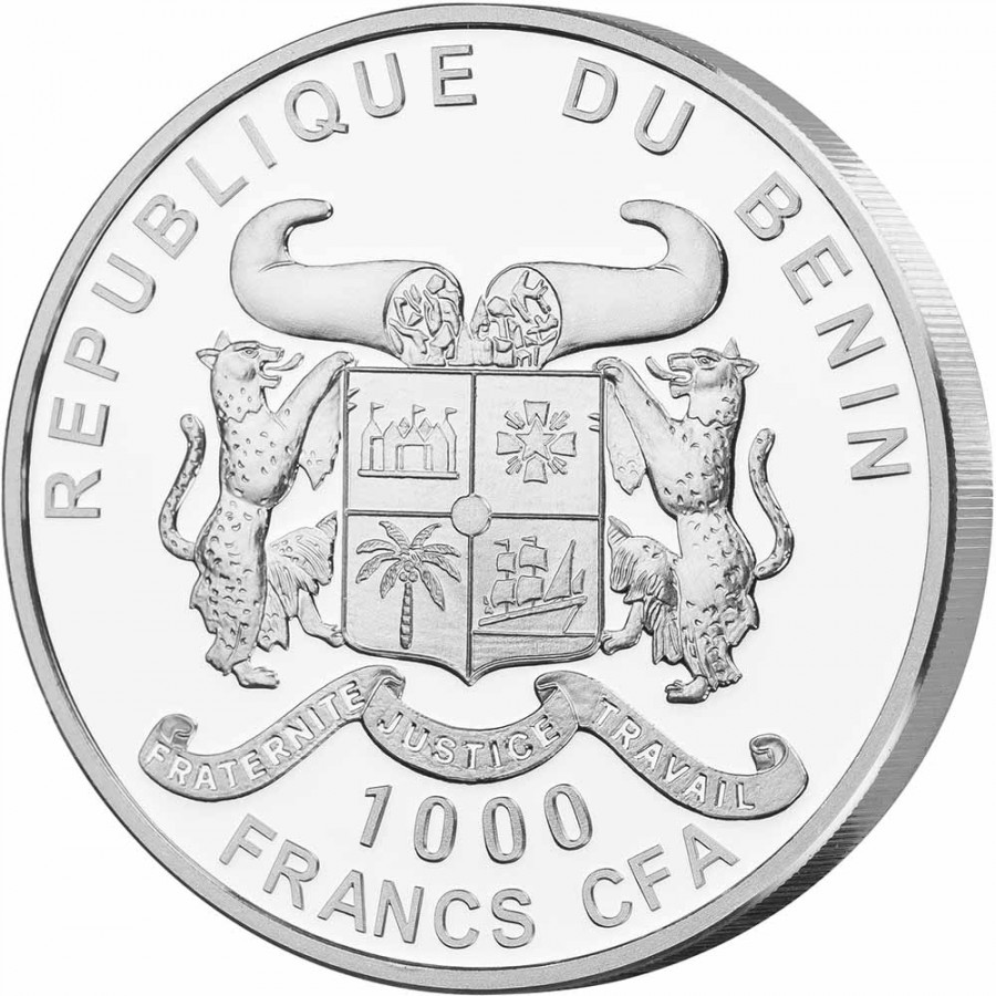 Republic of Benin WATER series SOURCE OF LIFE Silver Coin 1000 Francs 2019 Proof 1 oz