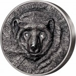 Mongolia GULO GULO - WOLVERINE series WILDLIFE PROTECTION Silver Coin 20000 Togrog 2020 Antique Finish 1 Kg Kilo