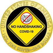 USA NO HANDSHAKING COVID-19 series CORONAVIRUS American Silver Eagle 2020 Walking Liberty $1 Silver coin Gold plated 1 oz