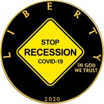 USA STOP RECESSION COVID-19 series CORONAVIRUS American Silver Eagle 2020 Walking Liberty $1 Silver coin Gold plated 1 oz