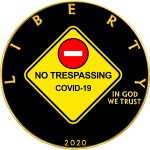 USA NO TRESPASSING COVID-19 series CORONAVIRUS American Silver Eagle 2020 Walking Liberty $1 Silver coin Gold plated 1 oz