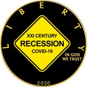 USA XXI CENTURY RECESSION COVID-19 series CORONAVIRUS American Silver Eagle 2020 Walking Liberty $1 Silver coin Gold plated 1 oz